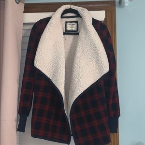 Fuzzy cardigan. Feel free to make offer